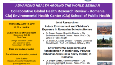 2019 Collaborative Global Health Research Review – Romania Cluj Environmental Health Center/ Cluj School of Public Health.